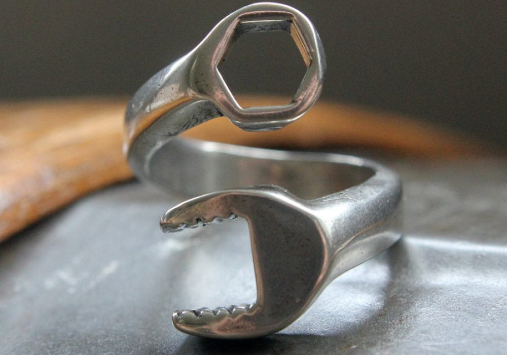 Moon Raven Designs Silver Spanner Wrench Ring Buy Unique Gift for Him