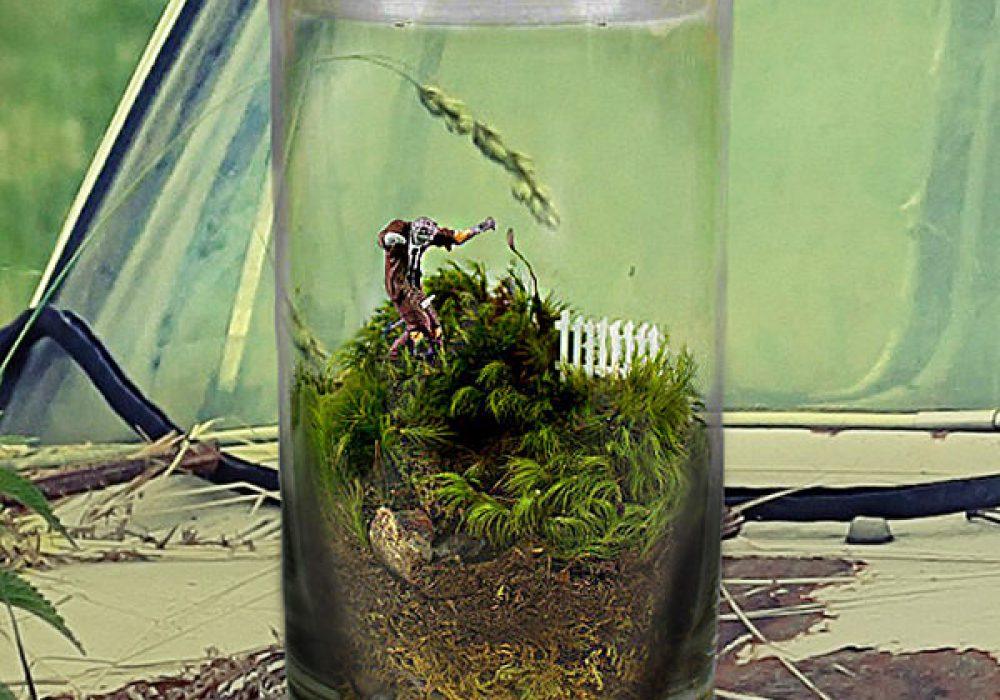 Moss Love Beware Tiny Zombie Terrarium Unique Gift Idea to Buy