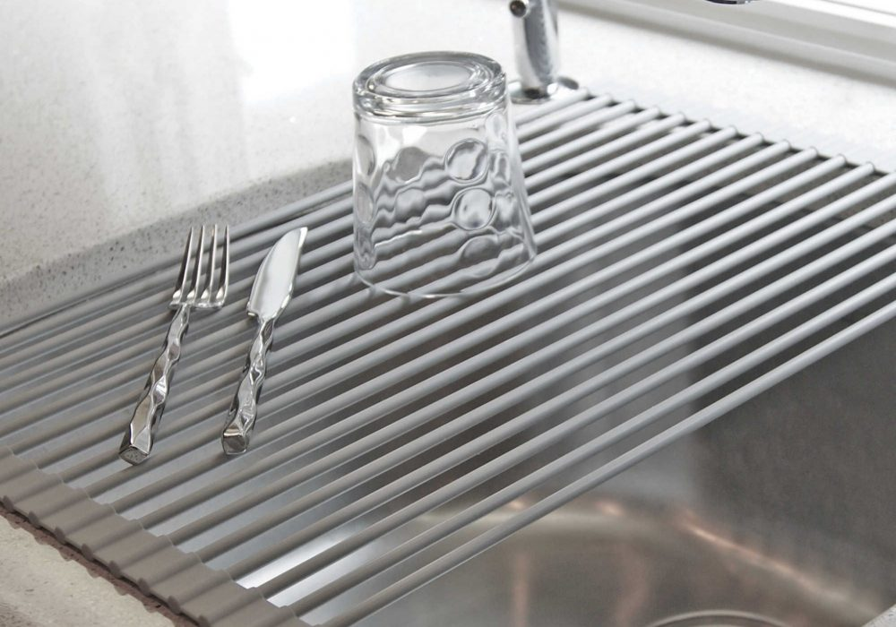 Lovely Over the Sink Roll Up Drying Rack Bed Bath & Beyond
