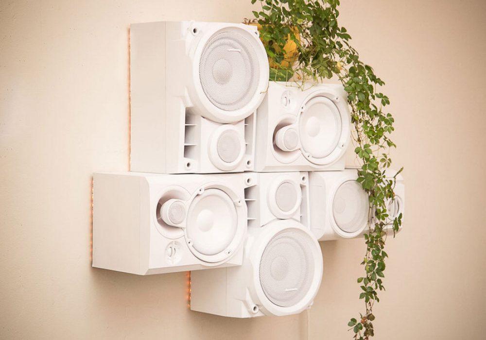 Musical Furnishings Modular HiFi Wall Sculpture Hipster Design