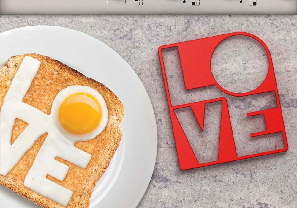 Mustard Fry Love You Egg Mold Breakfast Love