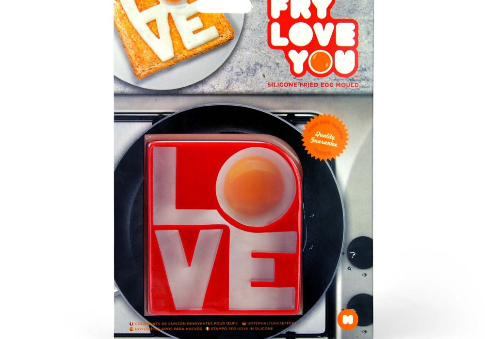 Mustard Fry Love You Egg Mold Quirky Novelty Product