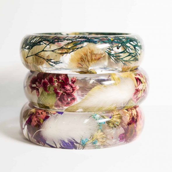 NThandmadeJewelry Real Flower Bracelet