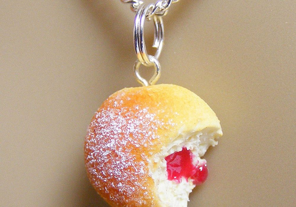 NeatEats Jelly Donut Necklace Fashionable Item