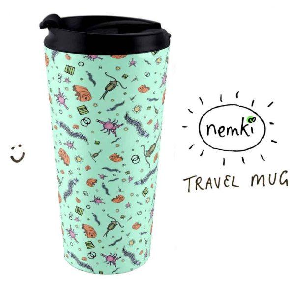 Nemki Microscopic Animal Travel Mug