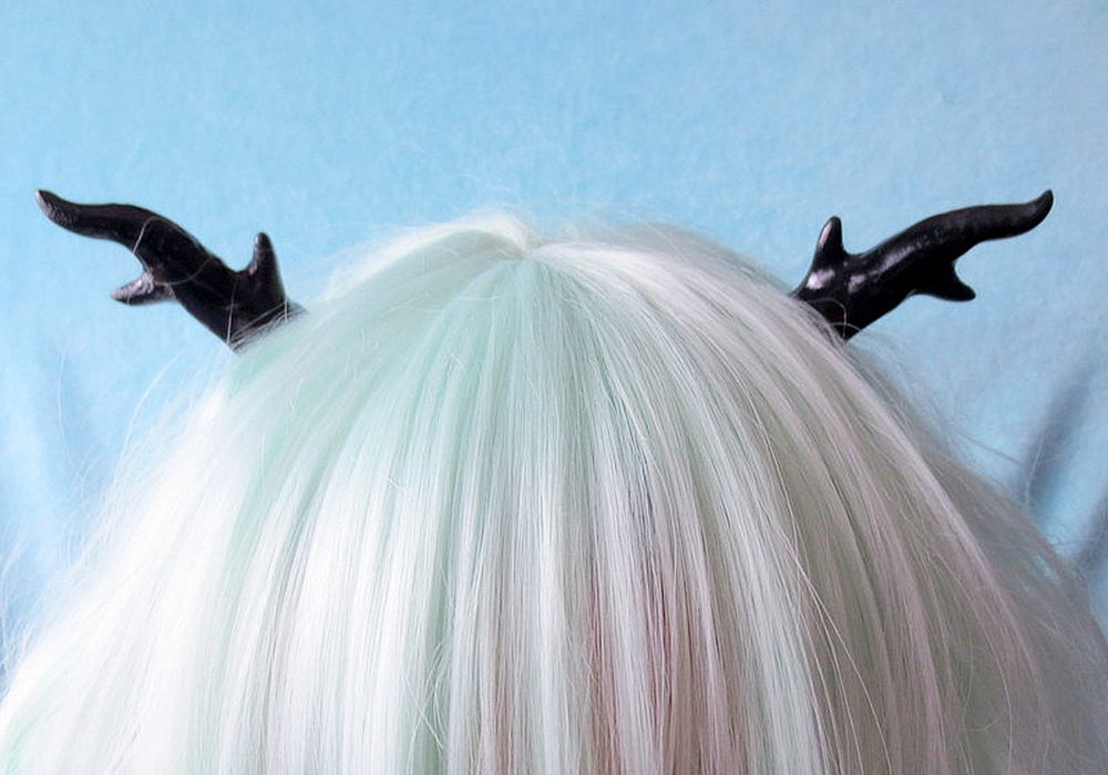 Nerdy Little Secrets Goth Lolita Antlers Hair Clips Nice Barrettes