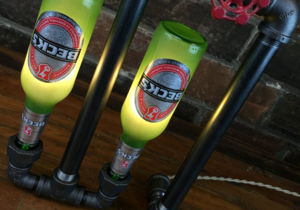 New Wine Old Bottles Bar Decor Industrial Lamp Buy Cool Mancave Item