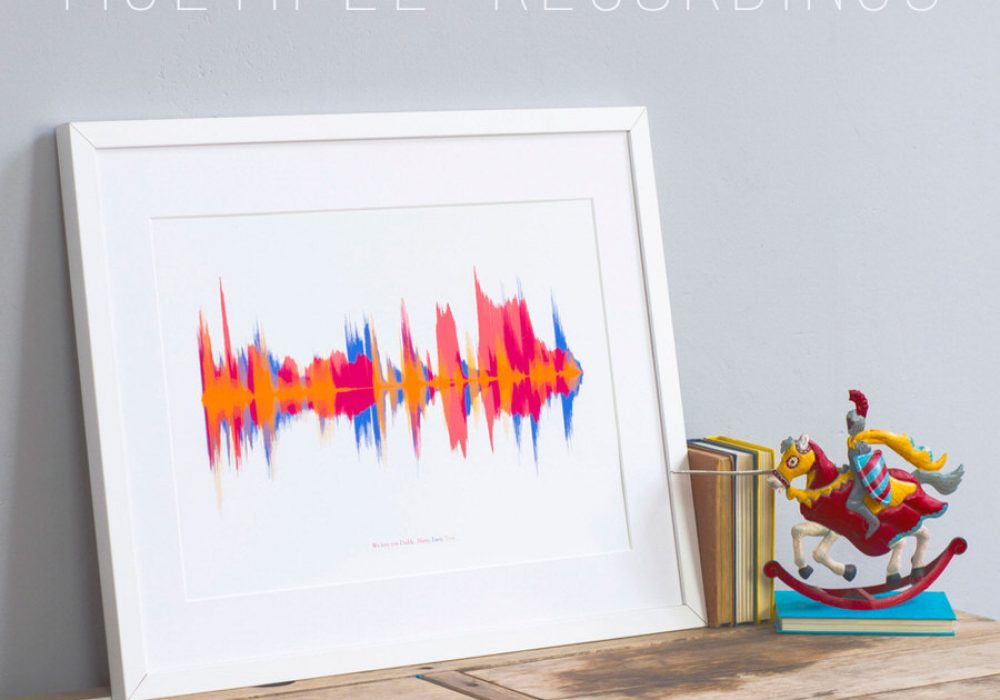 Newton and the Apple Your Voice Sound Wave Print Frame for Kids Room
