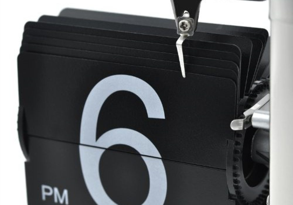 Niceeshop Retro Flip Down Clock Black Version Hours 6 PM