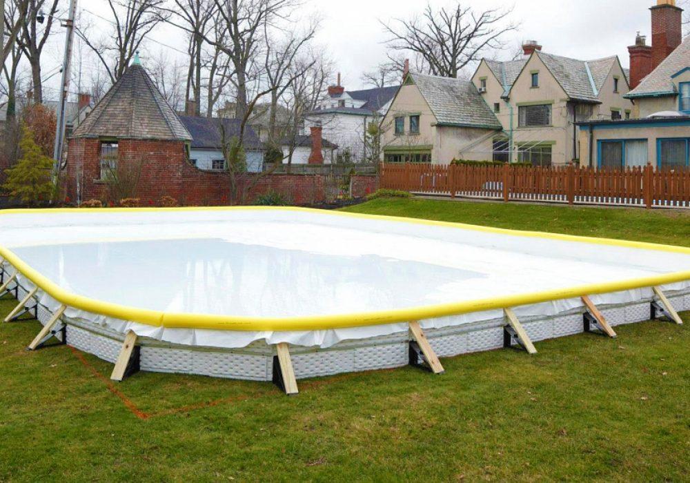 Nicerink Backyard Ice Rink Kit Set Up