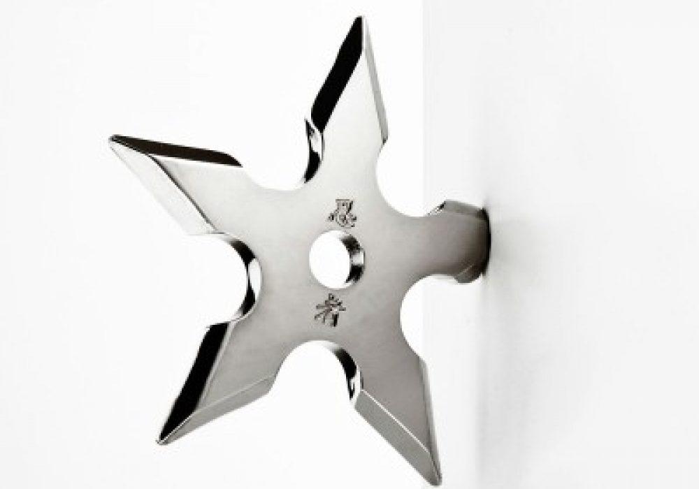 Ninja Coat Hook Novelty Item Interior Design Shiny Throwing Star