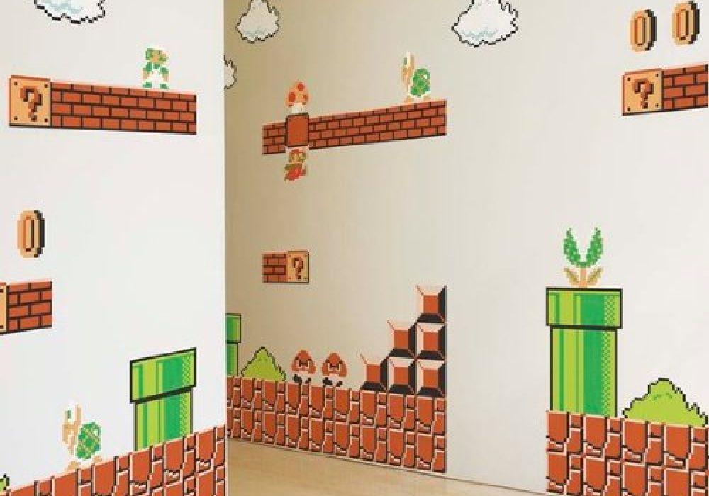 Nintendo Super Mario Bros. Wall Graphics Cool Dorm Design