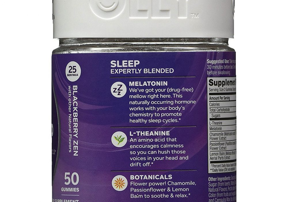 OLLY Restful Sleep Gummy Supplements Sleep Hormone Booster