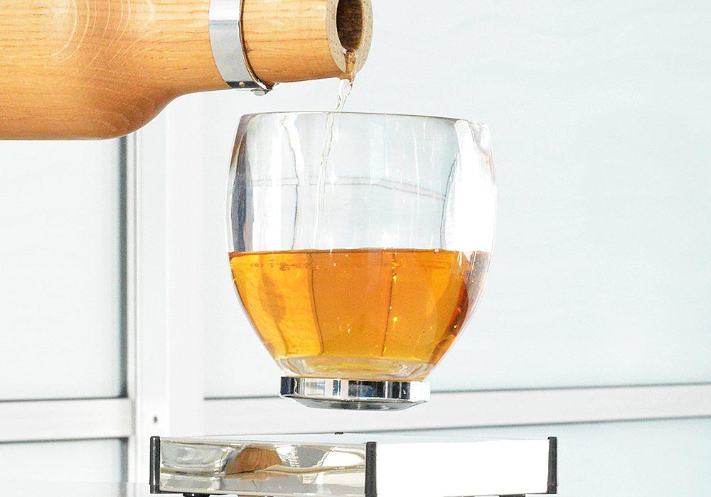 Oak Bottle Levitating Cup Awesome Gift Idea