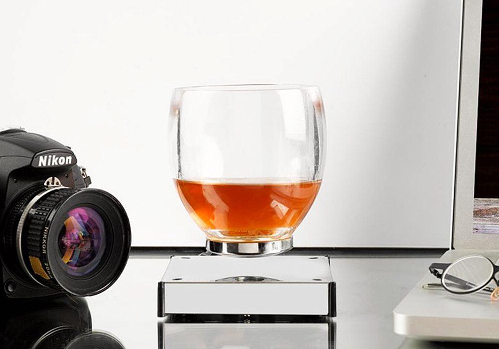Oak Bottle Levitating Cup Best Whiskey Glass