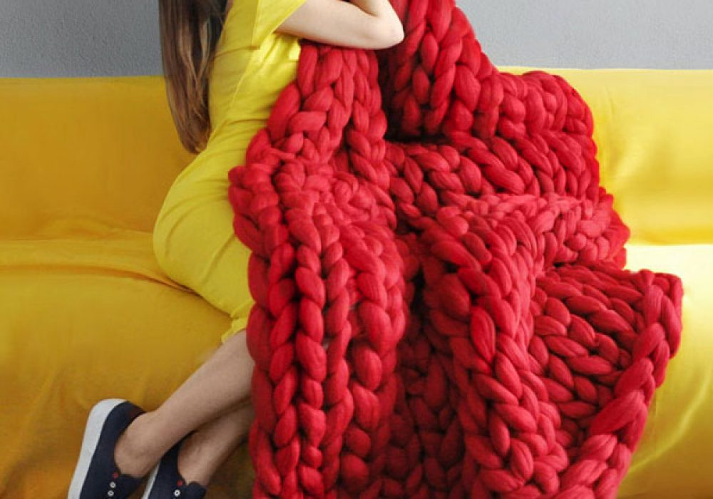 Ohhio Large Red Blanket Unique Expensive Gift Idea