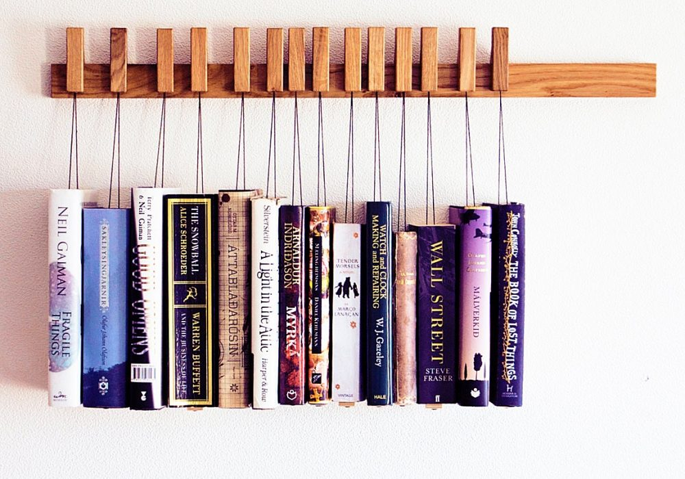 Old and Cold Hanging Book Rack Cool Fixture to Buy