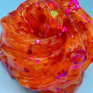 Orange Crush Crystal Clear Slime