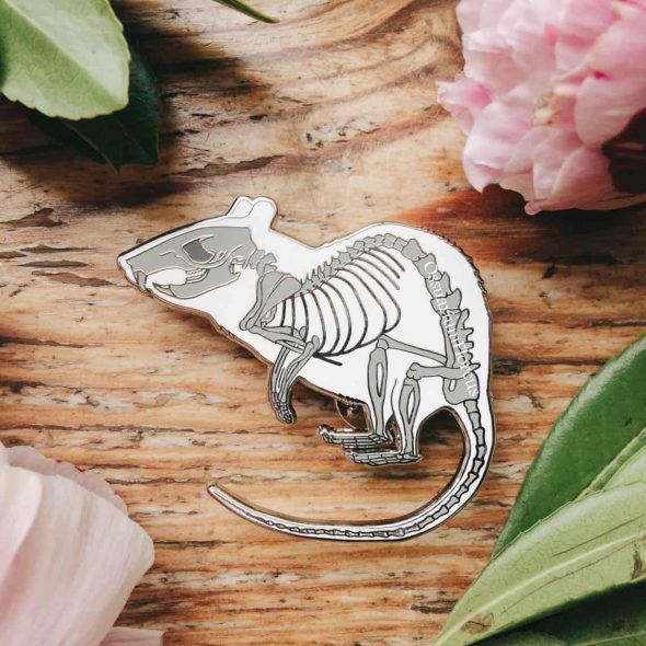 OssuariumFloreus Rat Skeleton Enamel Pin