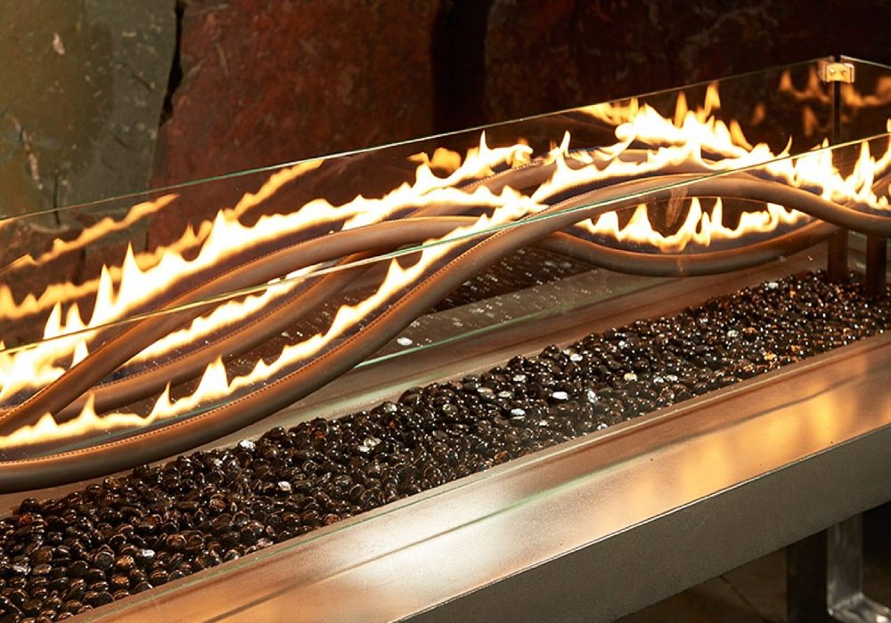 Outdoor Great Room Wave Fire Pit Table Unusual Decorations