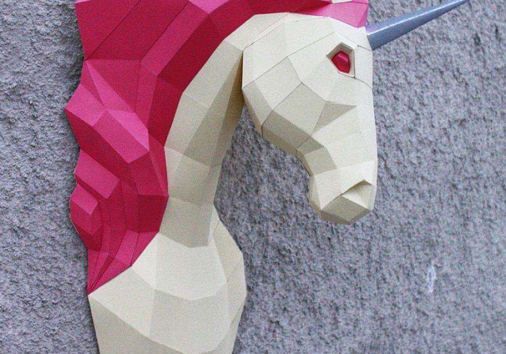 oyxgami-papercraft-unicorn-trophy-do-it-yourself