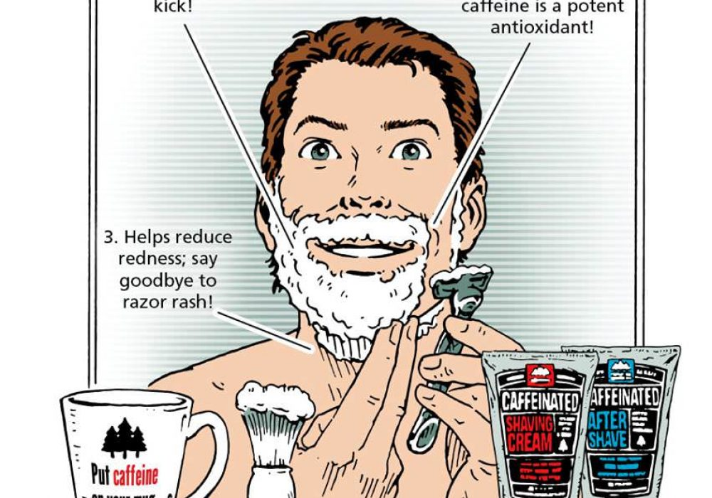 Pacific Shaving Caffeinated Shaving Cream & Aftershave Caricature