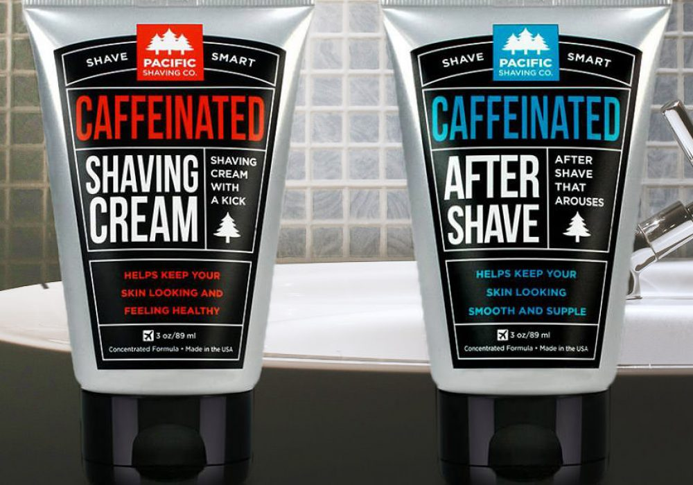 Pacific Shaving Caffeinated Shaving Cream & Aftershave Weird Stuff to Buy Online