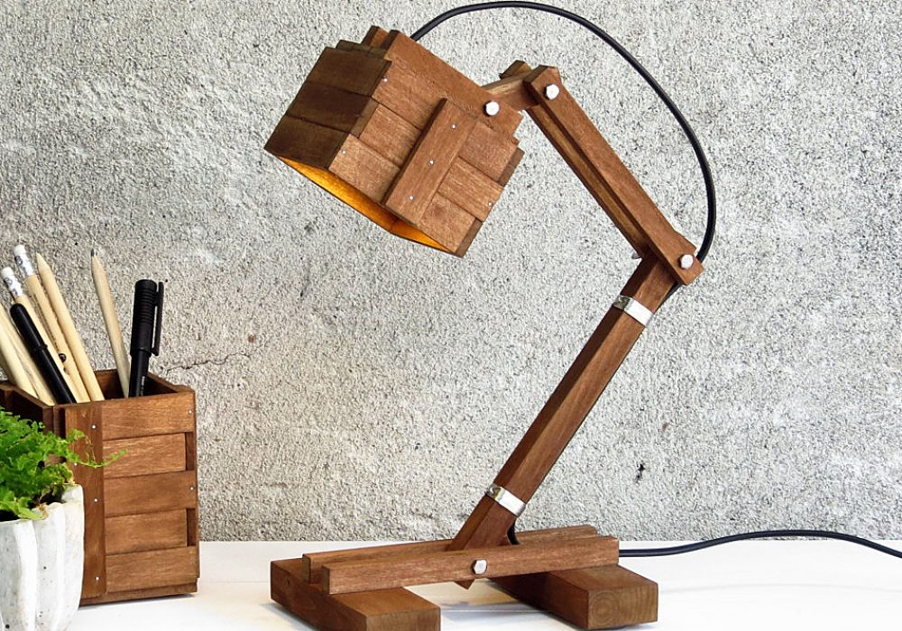 Paladim Kran VI Wooden Lamp House Warming Gift Idea