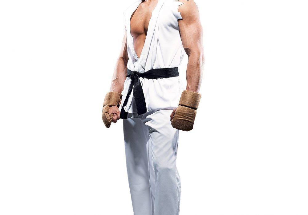 Paper Magic Street Fighter Ryu Costume Halloween Idea