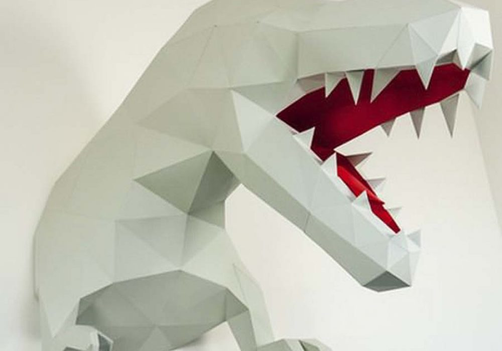 Papertrophy T-Rex Paper Trophy Wall Decoration