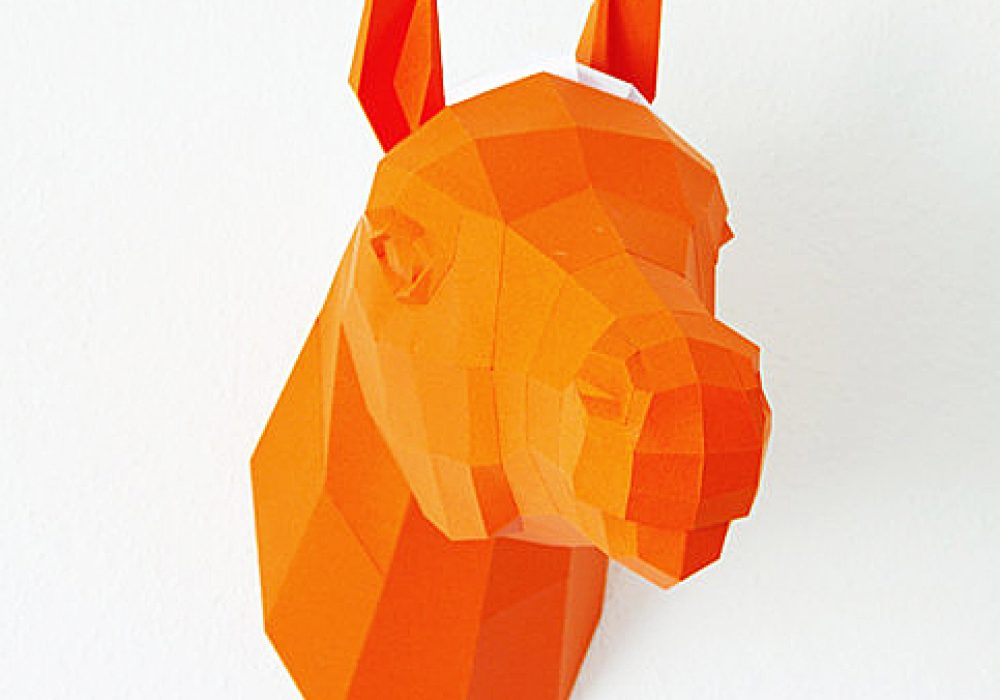 Paperwolf's Shop Paper Horse Trophy Buy Handcrafted Stuff