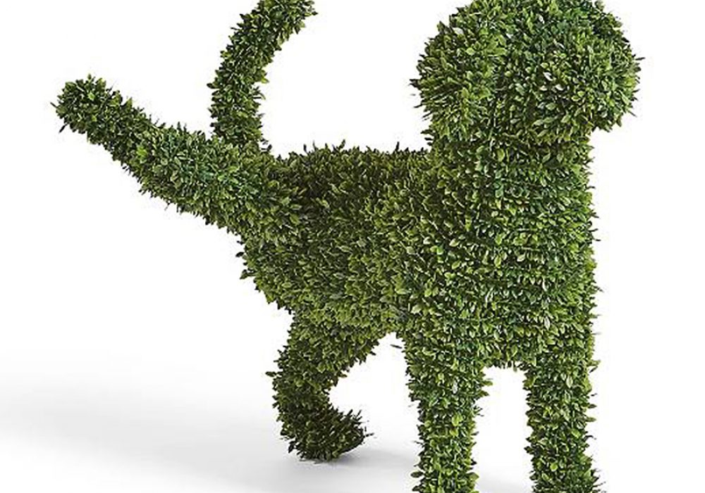 Peabody Faux Boxwood Garden Dog All Weather Materials