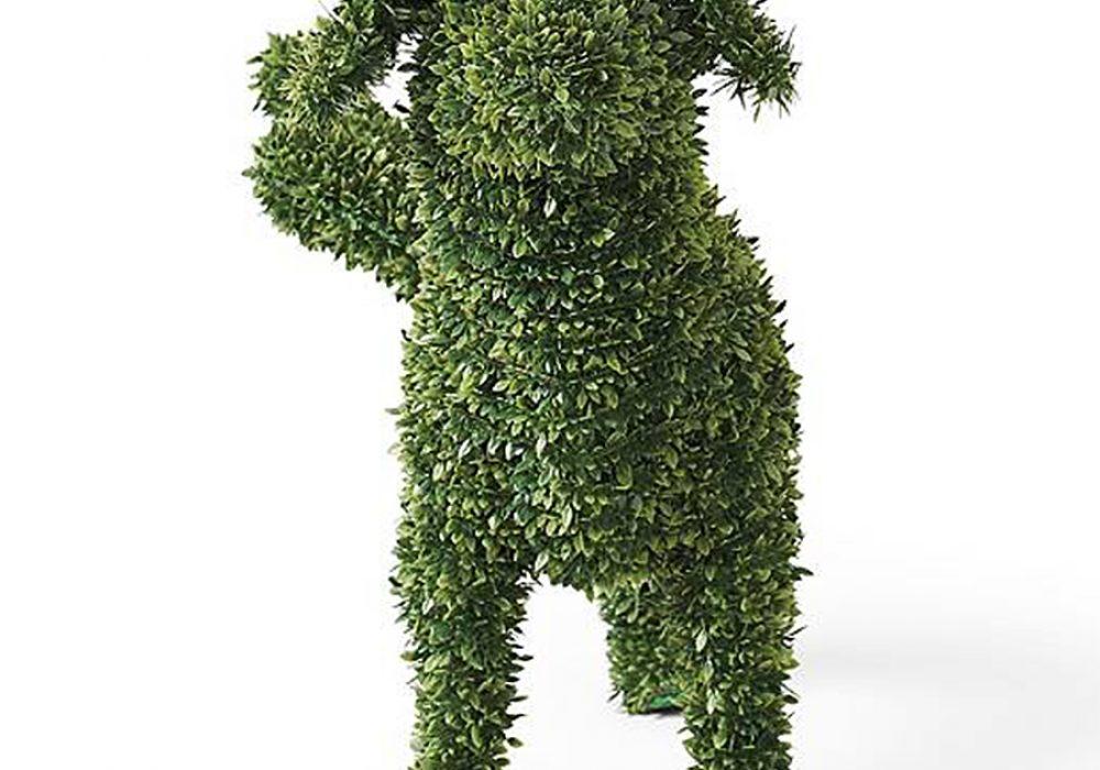 Peabody Faux Boxwood Garden Dog No Maintenance
