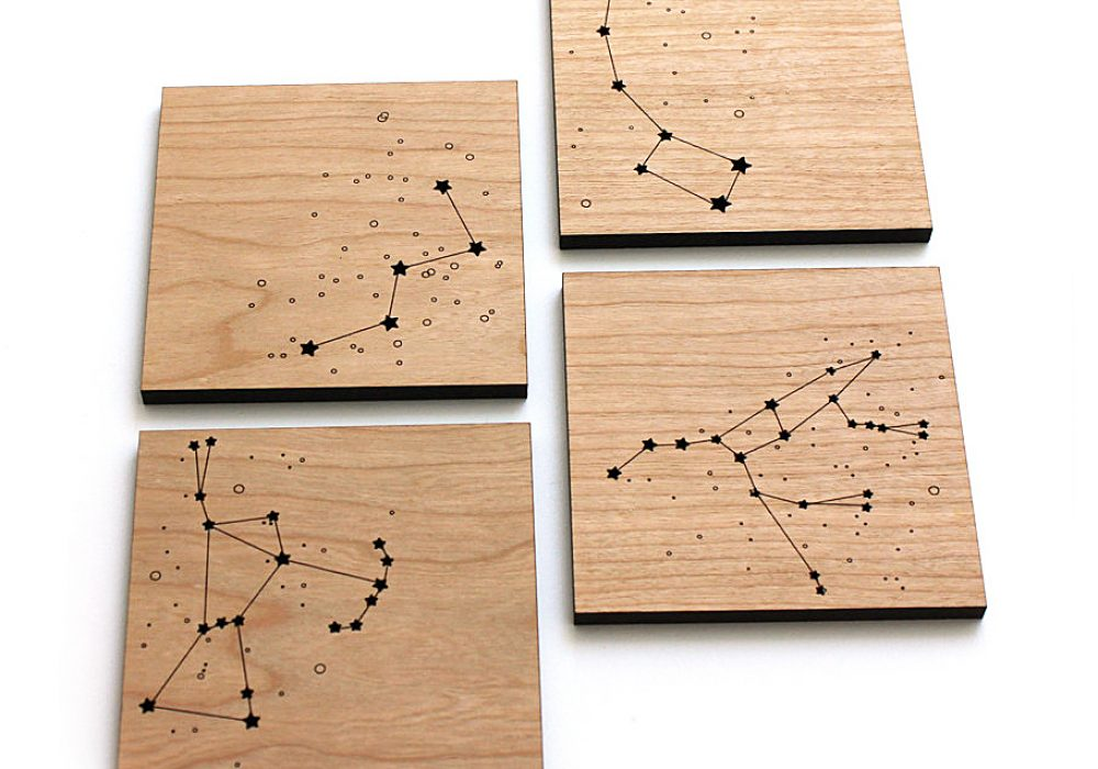 Pepper Sprouts Star Constellations Coaster Cool Kitchenware