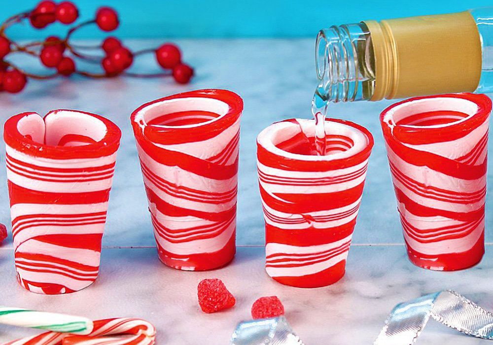 Peppermint Candy Shot Glasses