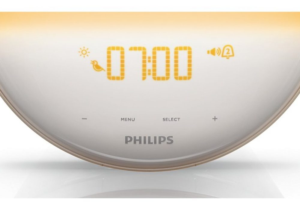 Philips HF3520 Wake-Up Light Colored Sunrise Simulation LED Clock