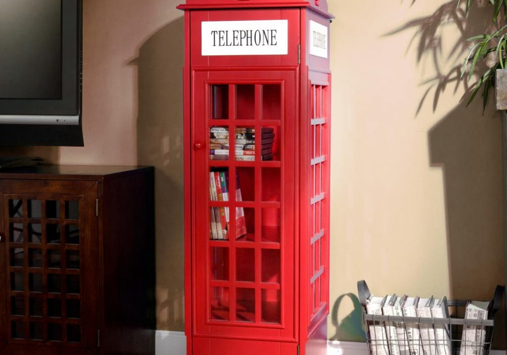 Phone Booth Cabinet Book Cool Shelf