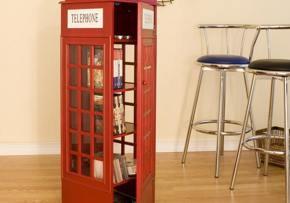 Phone Booth Cabinet Bookworm Gift Idea