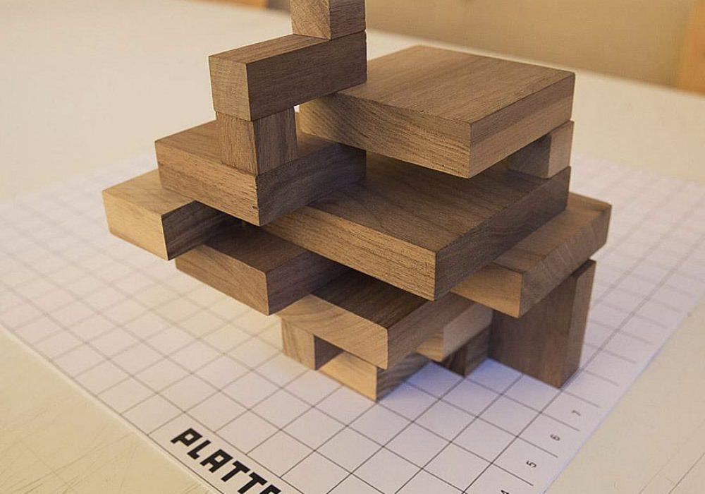 Plattenbau Design Prefab Wooden Block