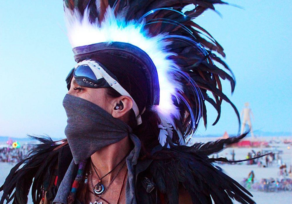 Playaborn Warrior Feather Mohawk Handmade