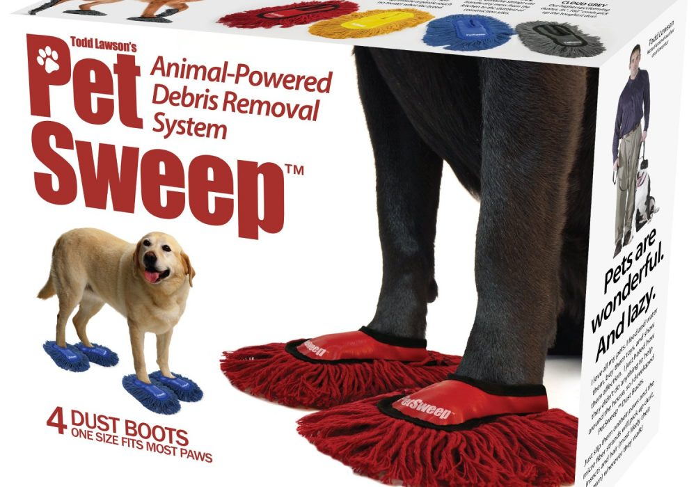 Prank Pack Pet Sweep Dog Dust Mop Gift Box