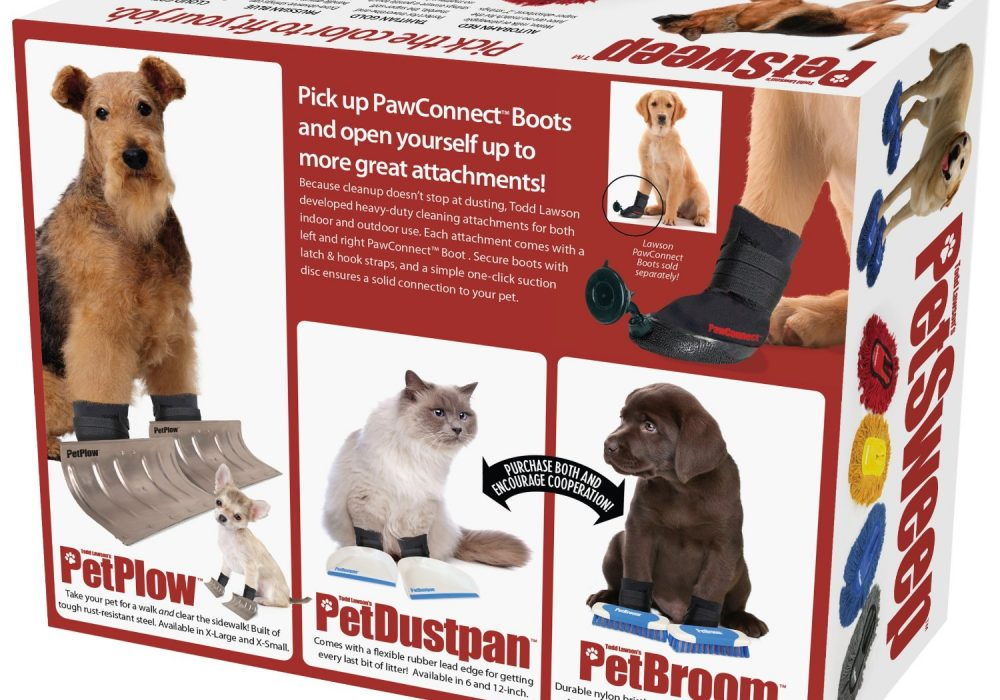 Prank Pack Pet Sweep Dog Plow Dustpan And Broom Rear Side of the Box