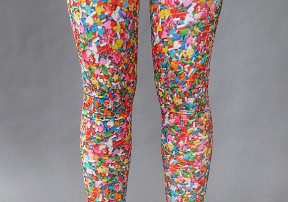 Pretty Snake Sprinkles Leggings Gift Idea for your Girlfriend