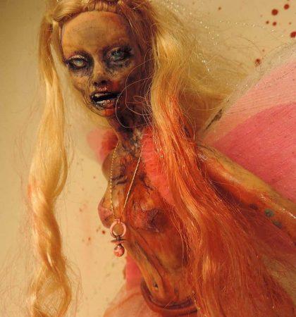 Pretty in Pink Raver Zarbie Zombie Barbie Doll