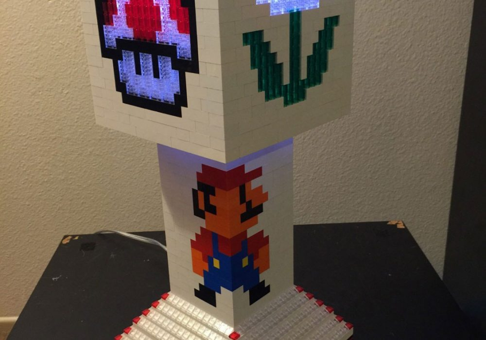 Pugs n Legos Mario Brothers Lego Lamp Geek Furniture