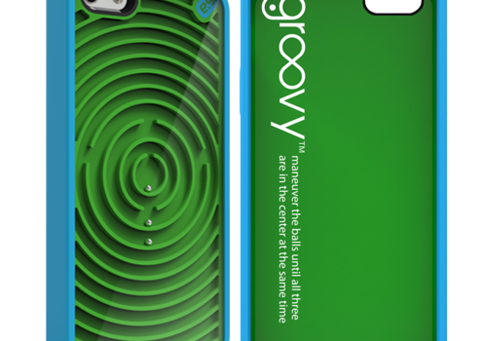 PureGear Gamer Case for iPhone Groovy Green and Blue Cool Gift Idea for Kids