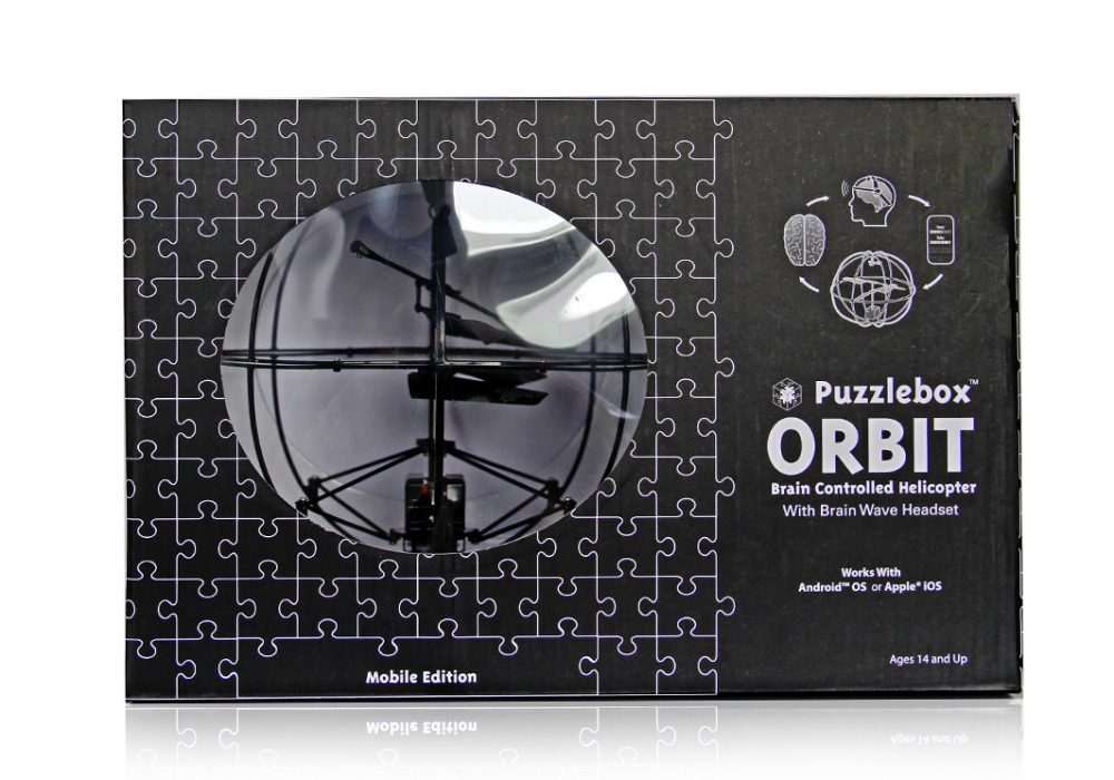 Puzlebox Orbit Mobile Edition Black Box Front by Puzzlebox