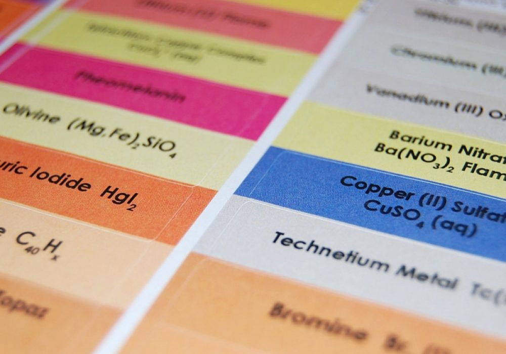 Que Interesante Chemistry Crayon Labels Cool Things For Educating Children