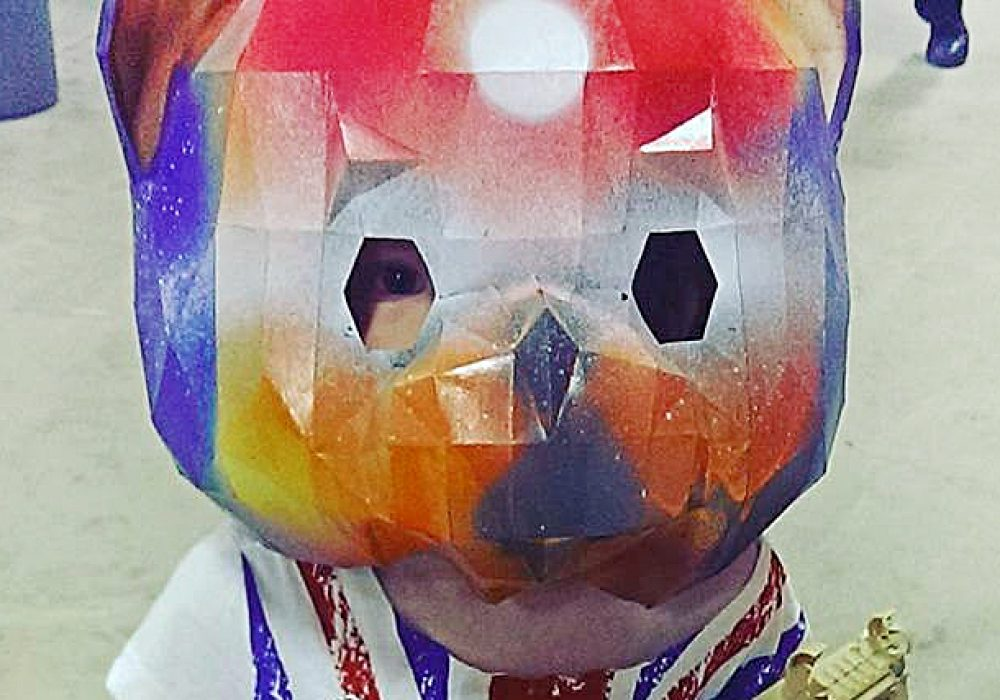 RPS Creations Teddy Bear Mask Paper Costume