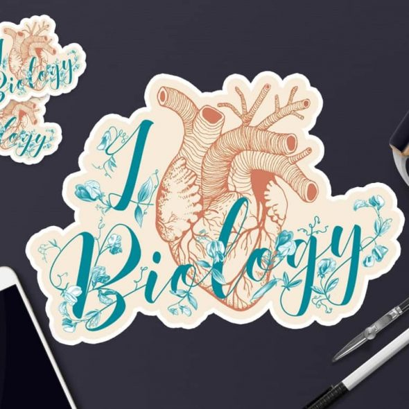 RUTA13 I love Biology Sticker